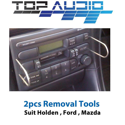 AU8 • Buy 2 X Radio Removal Tools For Car Stereo With Pins Keys Suit Holden Ford Mazda