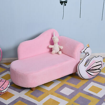 £62.99 • Buy HOMCOM Velvet Chaise Longuer Kids Sofa Daybed Bedroom Couch Princess Chair