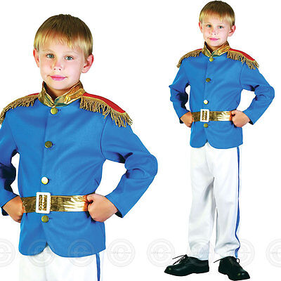 Boys Prince Fancy Dress Costume Childs Kids Fairy Tale Charming World Book Day • 11.50£