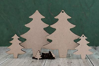 £2.38 • Buy Mdf Wooden Christmas Tree Shapes Blanks For Christmas Decoration Crafts -3mm