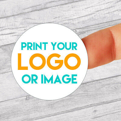 Personalised 37mm Stickers Business/Company Name Round Circle Labels Custom Logo • 2.99£