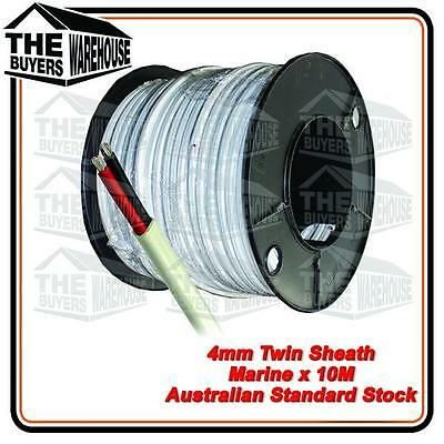 AU27 • Buy 10M X 4mm MARINE GRADE TINNED 2 CORE TWIN SHEATH  BOAT ELECTRICAL CABLE TYCAB