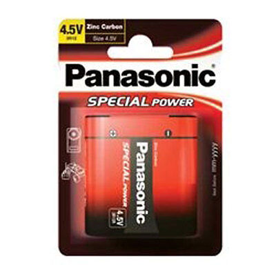 Panasonic 3R12R Special Power Zinc Carbon 4.5V Battery Carded 1 • 3.99£