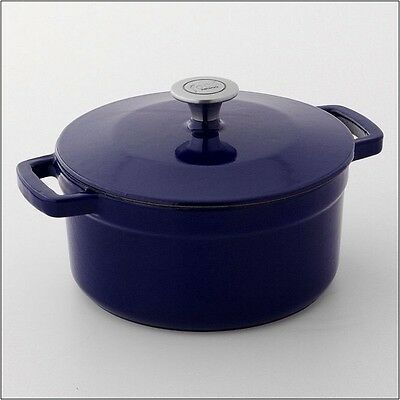 $ CDN38.02 • Buy Rachel Ray 5 Quart Cast Iron Dutch Oven Navy Colbalt Blue