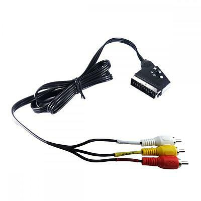 £5.45 • Buy 1.5m Switched SCART Lead To 3 Phono Compostite RCA Leads - Switchable IN/ OUT