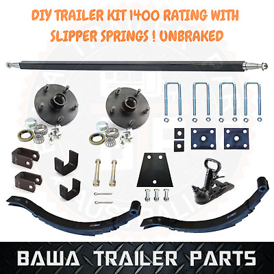 AU290 • Buy Single Axle Trailer Kit 1400kg Rating With Slipper Springs! UNBRAKED !!!