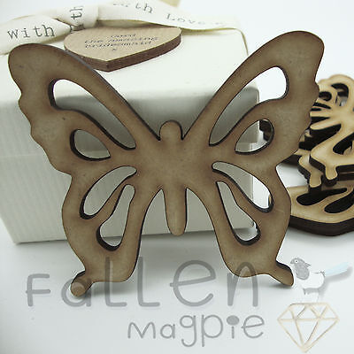 Wooden Butterfly Shapes Fretwork Embellishments Wood MDF Craft Tags Blanks  • 1.90£