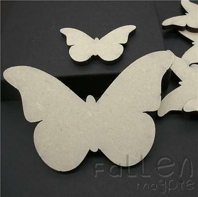 Wooden Butterfly Shapes Embellishments Craft Wood MDF Tags Blanks Various Sizes • 1.50£
