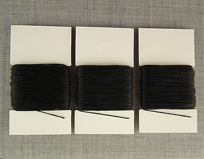 £3.99 • Buy 3x 20m HEAVY DUTY THICK STRONG 8s SEWING THREAD BLACK LEATHER REPAIR CRAFT 8 TKT