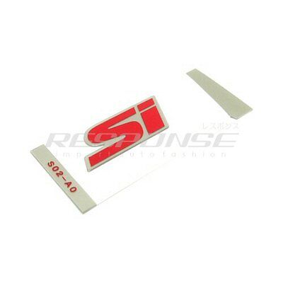$44.99 • Buy OEM Honda 99-00 Civic Si Coupe Rear Si Emblem Badge Decal Red 75723S02A11ZB