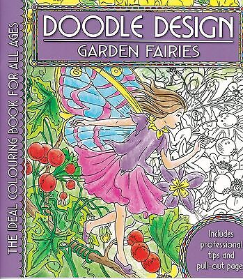 Garden Fairies Colouring Book - Doodle Design - Art Therapy • 4.49£