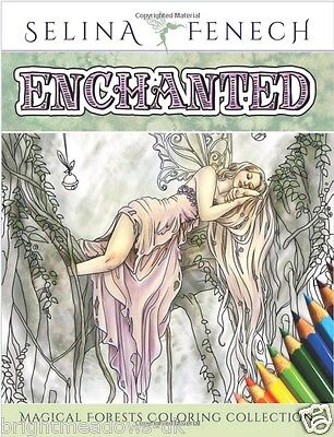 £11.35 • Buy Fairy Tale Magical Mystical Art Adult Colouring Book Fairies Selina Relaxing