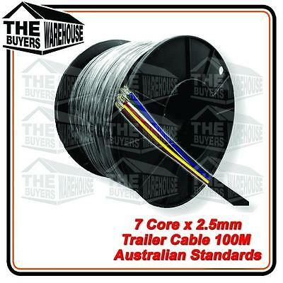 AU153 • Buy 7 Core 100 Metre Automotive Cable Wire Car Truck Trailer Caravan 2.5mm ADR