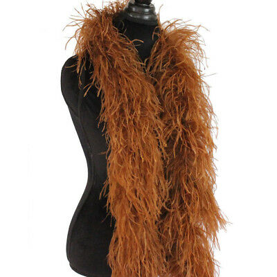 £43.42 • Buy Soft Brown 3ply Ostrich Feather Boa Scarf Prom Halloween Costumes Dance