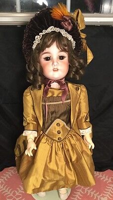 Large 29  German Bisque Girl 1906 Schoneau And Hoffmeister Compo Body • 295$