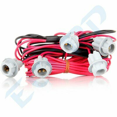 $10.51 • Buy Truck SUV RV Universal Roof Cab Marker Top Light T10 Harness Kit With 5 Sockets