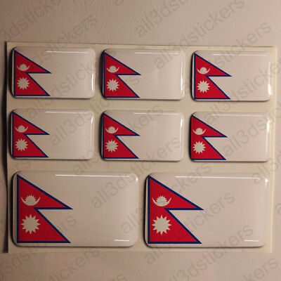 Sticker Nepal Resin Domed Stickers Nepal Flag 3D Vinyl Adhesive Decal Car • 5.50£