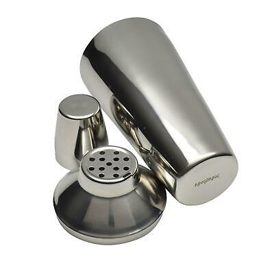 £9.49 • Buy Cocktail Shaker Mixer With Strainer Steel Bar Tool Drink Set - 3 Pieces - 800ml
