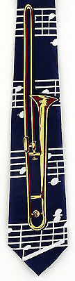 NEW! Slide Trombone Horn Band Musical Instrument Novelty Necktie  295 • 8.50$