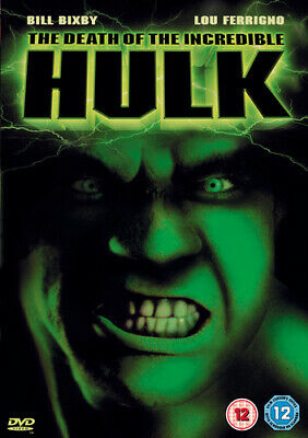 The Death Of The Incredible Hulk DVD (2003) Bill Bixby Cert 12 Amazing Value • 2.71£