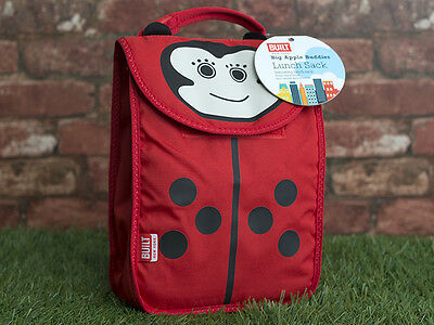 Built NY Big Apple Buddies Ladybird Kids Lunch Sack • 13£