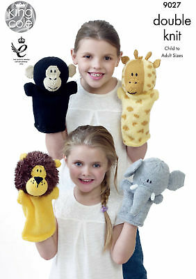 £2.89 • Buy Moments Animals Puppets Knitting Pattern Easy Knit King Cole 9027
