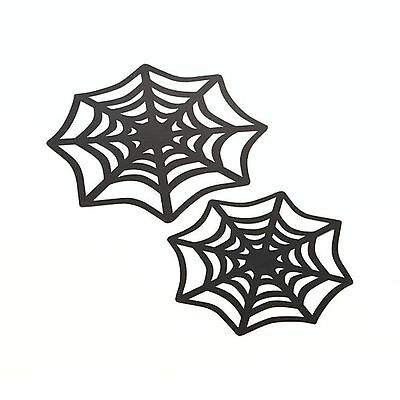 $ CDN24.19 • Buy 12 Crate&Barrel Halloween Paper Spiderweb Doilies/Stencils/Decorations-9&12