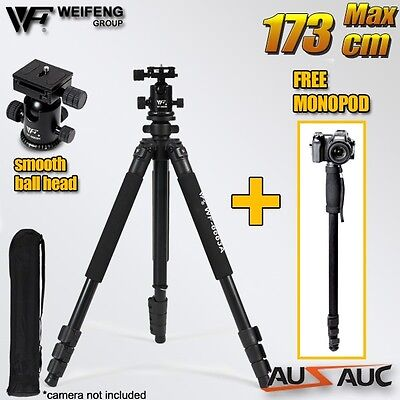 AU74.95 • Buy Professional Ball Head Tripod For Sony Nikon Canon Digital Camera DSLR Camcorder