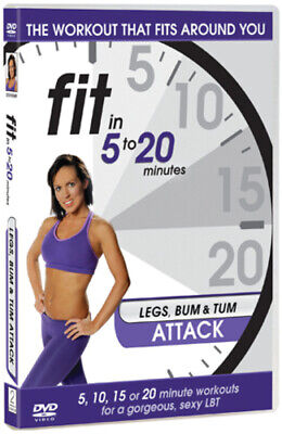 Fit In 5 To 20 Minutes: Legs Bum And Tum Attack DVD (2011) Cert E Amazing Value • 2.33£