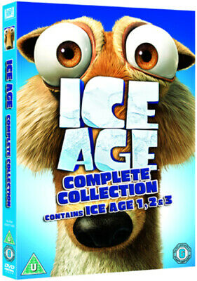 Ice Age 1-3 DVD (2009) Chris Wedge Cert U 3 Discs Expertly Refurbished Product • 2.31£