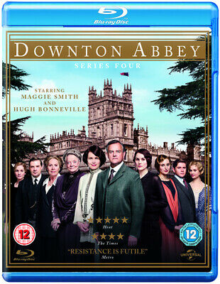 Downton Abbey: Series 4 Blu-ray (2013) Maggie Smith Cert 12 4 Discs Great Value • 4.98£