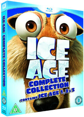 Ice Age 1-3 Blu-Ray (2009) Chris Wedge Cert U 3 Discs FREE Shipping, Save £s • 4.53£