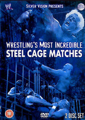 WWE: Wrestling's Most Incredible Steel Cage Matches DVD (2004) Bret Hart Cert • 2.59£