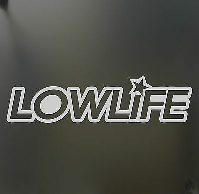 $2.99 • Buy Low Life Star Sticker Funny Race Lowrider Slammed Sticker JDM Stance Drift Decal