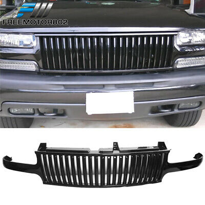 $73.99 • Buy For 99-02 Chevy Silverado 00-06 Tahoe Suburan Black Front Hood Grill Grille ABS