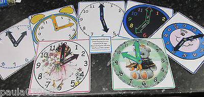 £3.85 • Buy Clock Faces For Learning The Time Nursery~Childminder~School~7 Designs Available