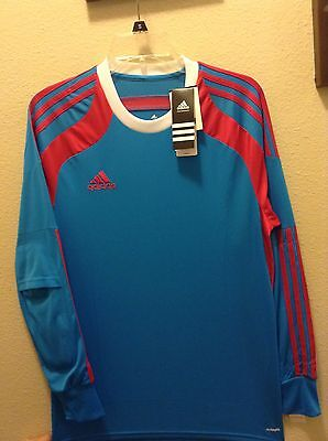 06ec9299be6 Adidas Onore Mens Soccer Goalkeeper Jersey Goalie Padded Elbows Blue •  37.99