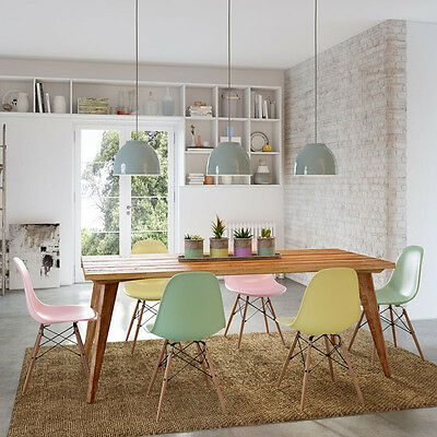 AU2760 • Buy Rustic Wooden Kitchen Dining Table 2m 6 To 8 Seater Solid Table Top In Natural