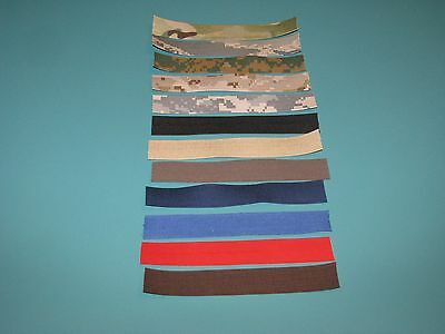 $1 • Buy Military Name Tape Sewing Blanks ACU ABU OD Marine Red Black For Crafts You Pick
