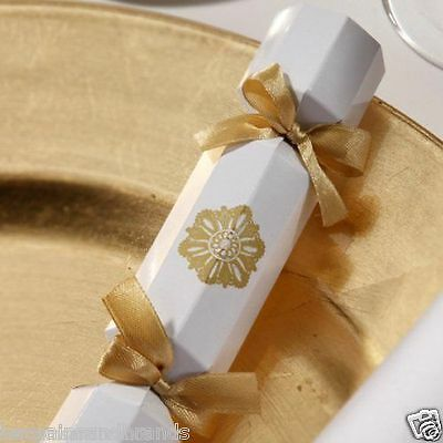 20 X Gold & White 🎉 Party Crackers By Talking Tables 👰 Wedding Favours 🎉 • 9.99£
