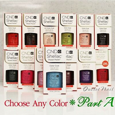 AU5.53 • Buy CND SHELLAC UV Gel Nail Polish Base Top Coat 7.3ml 0.25oz Pick ANY Color PART A