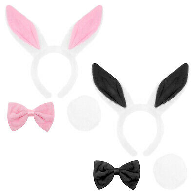 £6.99 • Buy White Rabbit Fancy Dress Bunny Ears Bow Tie And Tail School Book Week Costume
