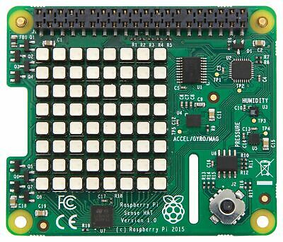 AU64.95 • Buy Raspberry Pi 3 & Pi 2 Sense HAT With Orientation Pressure Humidity & Temp Sensor