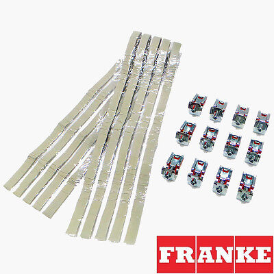 Franke X12 Stainless Steel Kitchen Sink Fixing Clips & Sealing Strip SINKFIXING • 12.99£