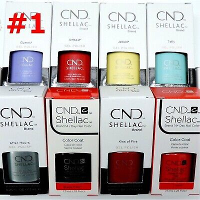 AU17.44 • Buy CND Shellac GelColor Nail Polish /Base /Top /Brand New Gel Color #1 - Choose Any