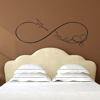 £21.09 • Buy Infinity Wall Decals Heart Decal Family Names Vinyl Stickers Bedroom Decor FD49