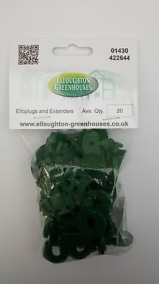 Super Elloplugs And Extenders Greenhouse Insulation / Shading Clips With Washers • 5.95£