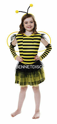 £4.50 • Buy CHILD BUMBLE BEE COSTUME FANCY DRESS HALLOWEEN Sm Med Lg REDUCED GIRLS Discounte