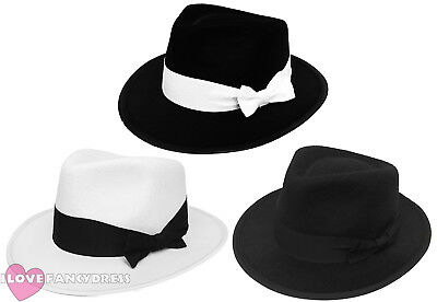 Adult Gangster Hat 1920's Fancy Dress Trilby Al Capone Gatsby Costume Accessory • 2.99£