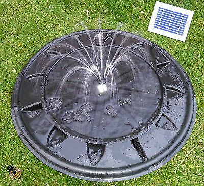 £79.99 • Buy Pebble Pool Solar Fountain Garden Water Feature LED Lights